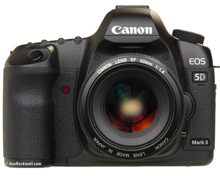 Canon EOS 5D สามารถใช้งานได้ในความชื้นสัมพัทธ์  85% RH หรือต่ำกว่า